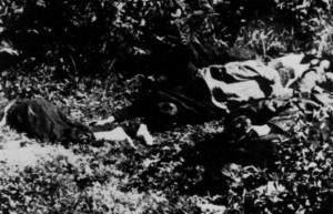 Garzonval. Les corps des résistants assassinés